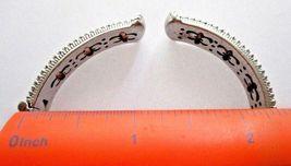 JUDITH RIPKA STERLING SILVER DIAMONIQUE CABLE CUFF BRACELET JR BOX & POUCH AVGE image 8