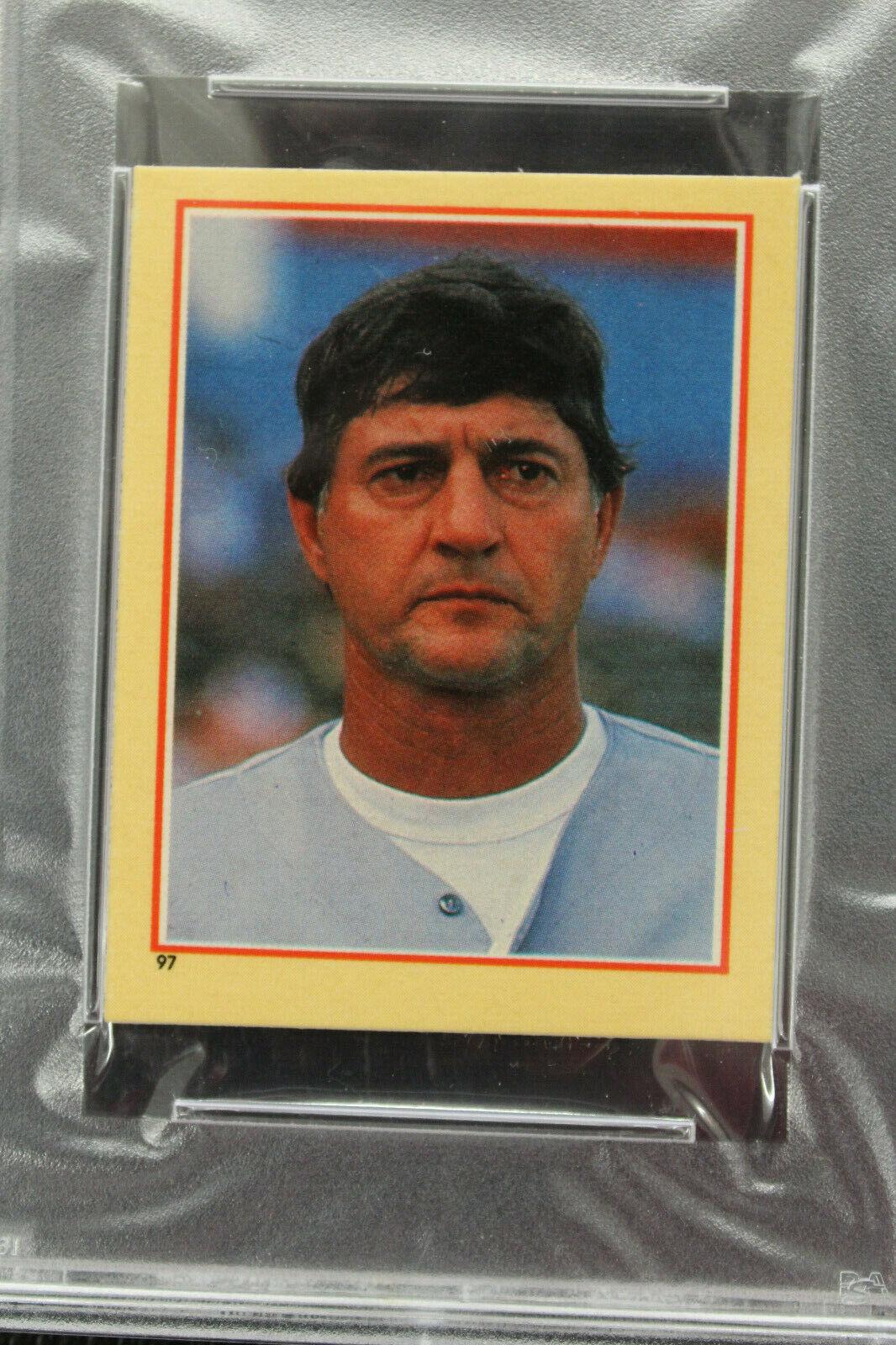 1984 Fleer Sticker Carl Yastrzemski NM PSA7 Red Sox