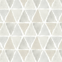 Kitchen Triangle Wallpaper Beige, Grey Norwall Wallcovering CK36637 - $34.99