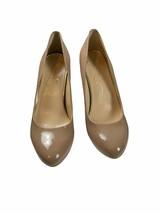⚫️ Jessica Simpson Nude Patent Heels Size  Round Toe 4 Inch Pump 9.5M - $26.14