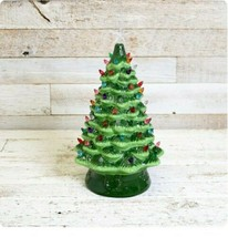 Ceramic Lighted Christmas Tree Accent Tabletop Decor Cracker Barrel 18.5... - $140.25