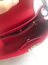 100% Authentic Louis Vuitton CAPUCINES MM Bag Red Taurillon Python image 8