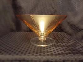 Large Vintage Amber Martini Glass Depression Glass Centerpiece - $24.95
