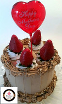 """Mother's Day Cake Chocolate Chunk Mousse Cake 6"""" Faux Cake- Fake Food Decoration - $21.77"""