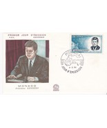 JOHN F. KENNEDY FIRST DAY OF ISSUE MONACO 12/3/1964 - $3.90