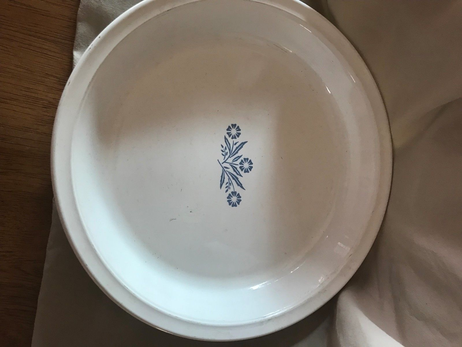 Corning Ware Blue Cornflower Pie Pan P 309 9 Inch Round Baking Dish Made In Usa