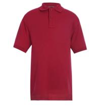 Tommy Hilfiger Kids' Short Sleeve Interlock Co-ed Polo Shirt, Unisex Red S (8) - $11.69