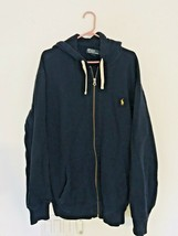 Polo Ralph Lauren Full Zip Hoodie Jacket Polo Blue Men's XLT Tall Heavyw... - $47.47