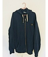 Polo Ralph Lauren Full Zip Hoodie Jacket Polo Blue Men's XLT Tall Heavyw... - $47.47