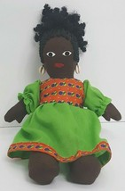 Vintage Black Americana African American Hand Made Cloth Rag Doll Folk A... - $46.50