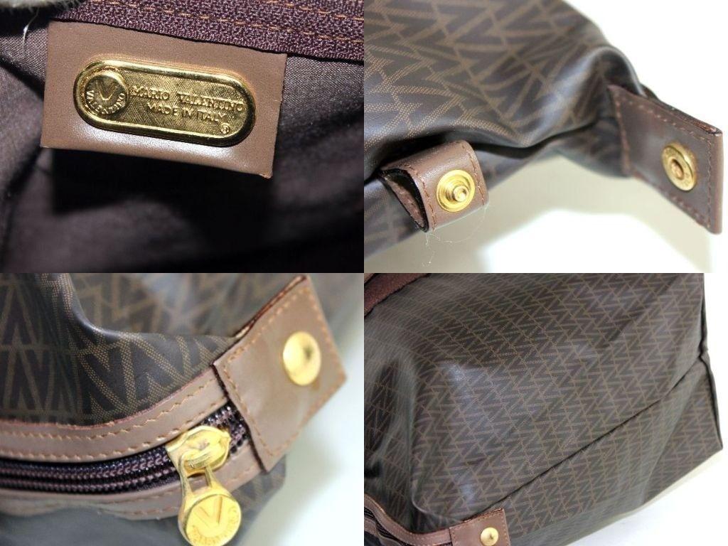 867e7c2c3b Auth MARIO VALENTINO Vintage Logo Print Tote Travel Carry Shoulder Bag Italy