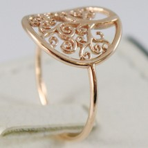 18K ROSE GOLD TREE OF LIFE RING, SMOOTH, BRIGHT, LUMINOUS, MADE IN ITALY image 2