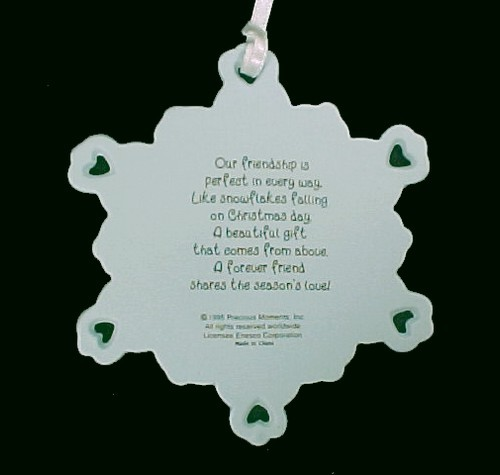 Enesco Precious Moments Christmas Tree Ornament in Box