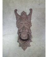 Leaf Man Old man winter door knocker cast iron Extra Large Gargoyle - £46.31 GBP