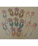 Elastic Bracelets Necklaces Qty 14 Sets Shell Wood Plastic - $22.36