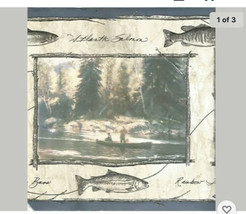 5 Rolls of Chesapeake Blue salmon fish Border Pre-Pasted Vinyl  5yds etc... - $59.40
