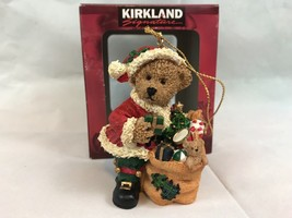 Kirkland Signature Brown Bear Dressed as Santa Claus Christmas Ornament - $7.70