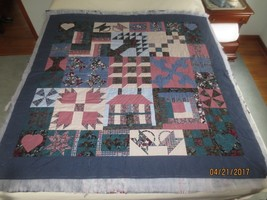 Hand Crafted COTTON PATCHWORK Throw or Wall Hanging QUILT - to Bind & Co... - $29.95