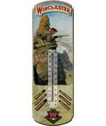 "Nostalgic Tin Thermometer ""Winchester Rifle Hunting"" Thermometer Wall Ha... - $12.25"