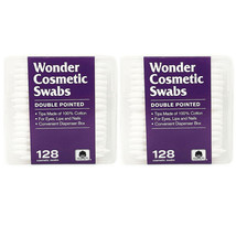 Cosmetic Swabs Double Sided Cotton Swabs from Wonder Wedge 2 Pack 256 Count - $11.87