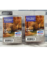 2pc Better Homes & Gardens FALL FESTIVAL 2 Packs of 6 Scented Wax Cubes ... - $9.85