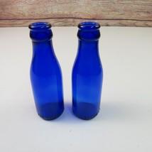 Bromo-Cedin for Headaches Miniature Cobalt Blue Glass Bottles Lot of 2 - $18.95