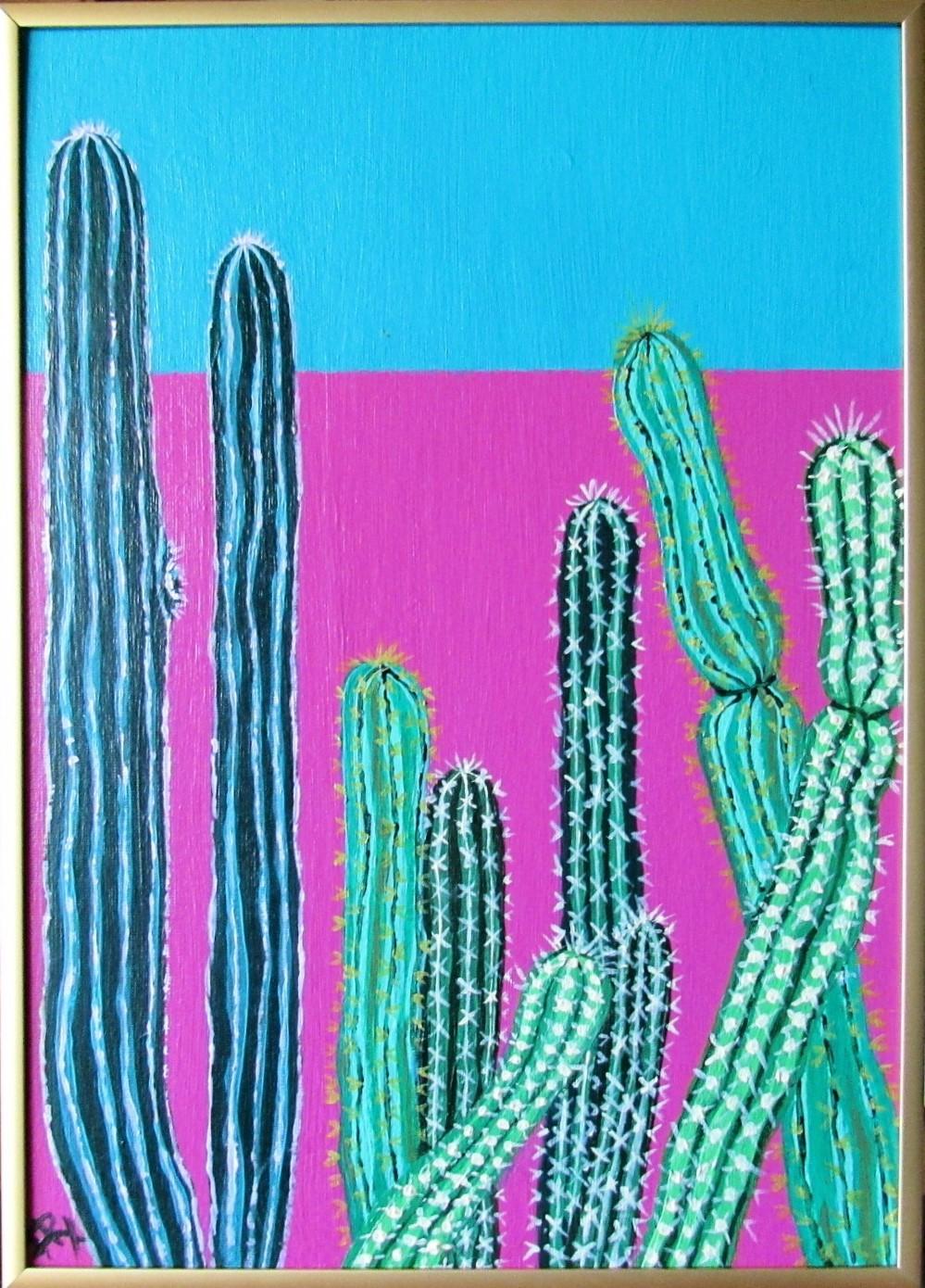 Cactus garden blue 11