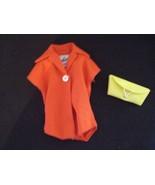 Vintage Barbie Pak RED Plain Blouse 1962 Mix & Match Yellow Clutch Purse... - $22.43