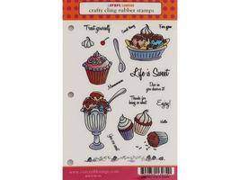 Craft Lounge Life is Sweet Rubber Cling Stamps, Set of 18 #CRM002