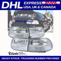 HONDA CIVIC 92 - 95 Tail Lamp Albino EG6 / full white / clear 3Dr Hatchback DHL - $173.29