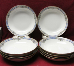 "Set Ten (10) CHARLES AHRENFELDT LIMOGES Porcelain China - 7"" SOUP BOWLS - $185.00"