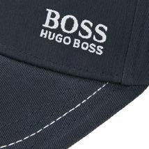 Hugo Boss Men's Cotton Twill Adjustable Sport Embroidered Logo Hat Cap (Navy) image 3