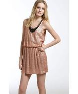 New Womens NWT Designer Robert Rodriquez Sequin Dress 4 Blush Rose Gold ... - $258.75