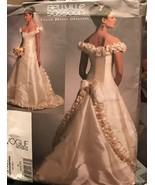 Vogue V1095 Bellville Sassoon Bridal Original Wedding Dress 6-10 Uncut P... - $26.43