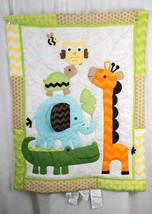 Circo Baby Blanket Elephant Giraffe Alligator Owl Turtle Throw Wall Hanging - $253,43 MXN