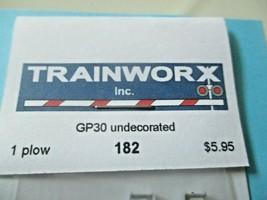 Trainworx Stock #182 Snowplow GP30 Undecorated N-Scale image 2