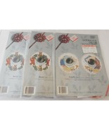 Lot of 3 Counted Cross Stitch Kits DOORKNOB Decor Christmas Angel Bear - $19.30