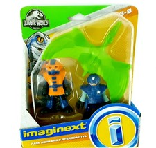 Imaginext Jurassic World Two Park Workers and a PTERODACTYL Figures Play... - $14.99