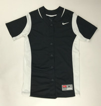 New Nike Vapor Full-Button Softball Performance Jersey Women's M Black 6... - $18.65