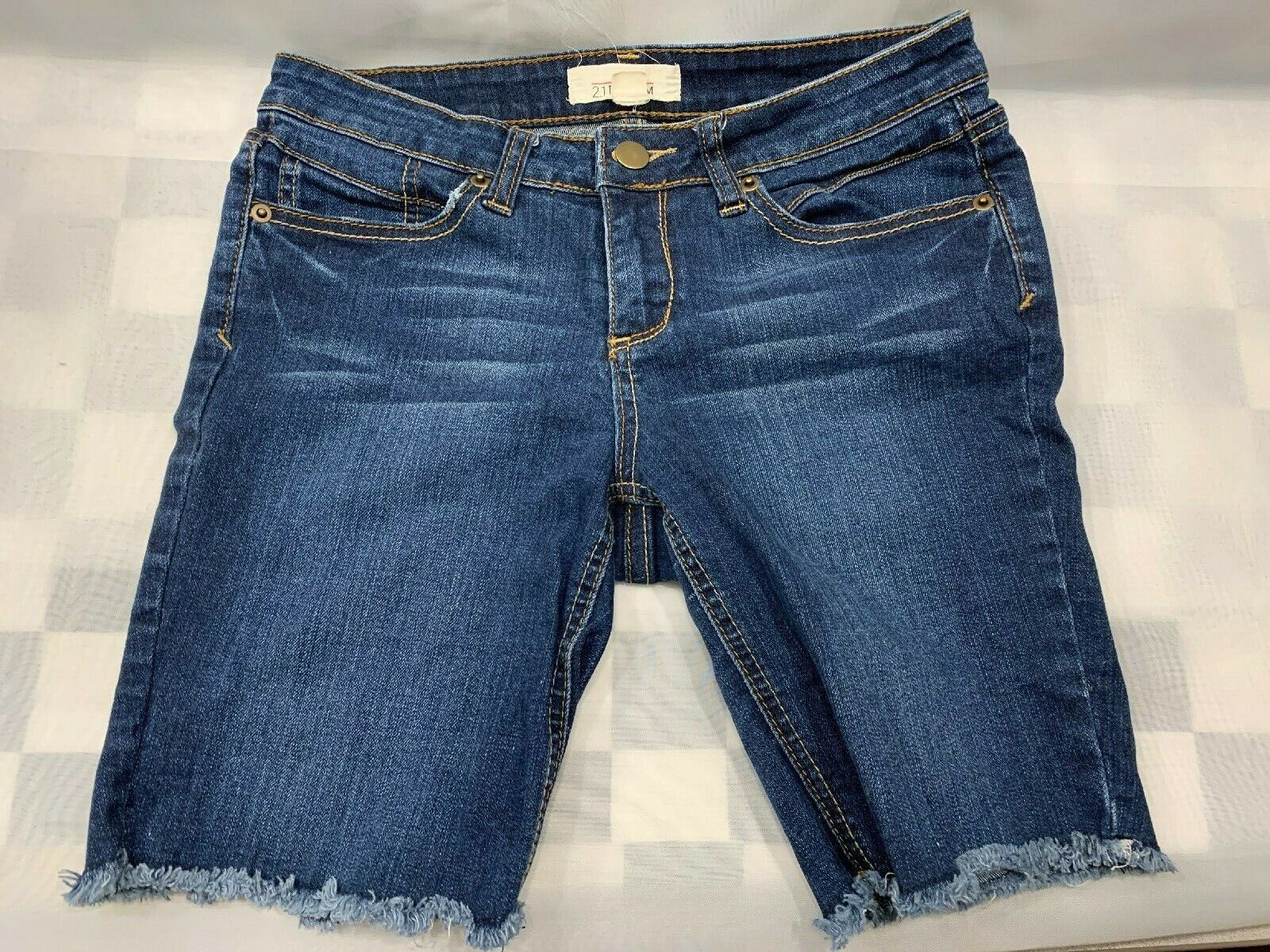 Primary image for 2.1 Denim Forever 21 Denim Cutoff Frayed Blue Jean Shorts Size 27