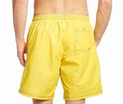 NEW MEN'S HUGO BOSS LOGO PREMIUM KILLIFISH SWIM QUICK DRY BOARD SHORTS YELLOW image 2