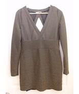 Honey Punch Size L Mini Dress ASOS V Neck Bodycon Black Metallic Gold Cu... - $24.72