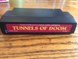 TI 99/4A Tunnels of Doom red label cartridge tested Texas Instruments ad... - $6.39