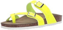 Madden Girl Women's BRYCEEE Slide Sandal, Yellow neon, 7 M US - $25.95