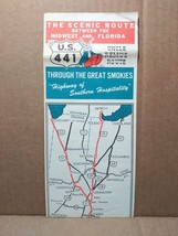 1950s Route 441 Vintage Travel Brochure Map Uncle Remus Route to Florida FL - $15.00
