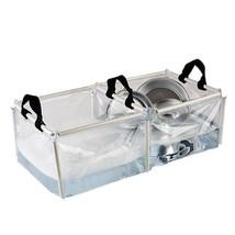 PVC Folding Double Wash Basin Sink Enamelware Kitchen Camping Dish Mug Cup - $18.98