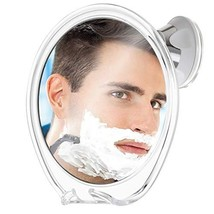 Fogless Shower Mirror for Shaving with Razor Hook | Strong Suction Cup | True Fo