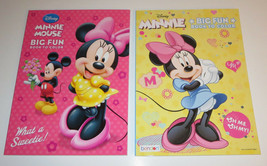 Minnie Mouse Coloring Books Set of 2 New Disney Mickey Donald Duck Daisy... - $5.93