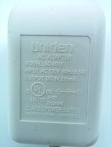 Uniden AD-0001 Adapter Charger 9VDC 210mA - $7.67
