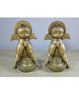Marvelous Vintage Commodore Praying Angel Candle Holder Set w/Box! Made ... - $22.00